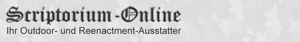 Scriptorium-Online - Ihr Outdoor- und Reenactment-Ausstatter
